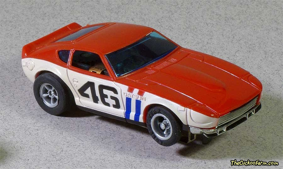 BRE Datsun 240Z slot car.