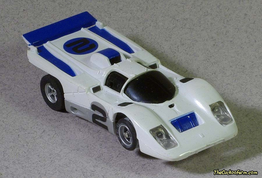 #2 Ferrari 512M slot car.