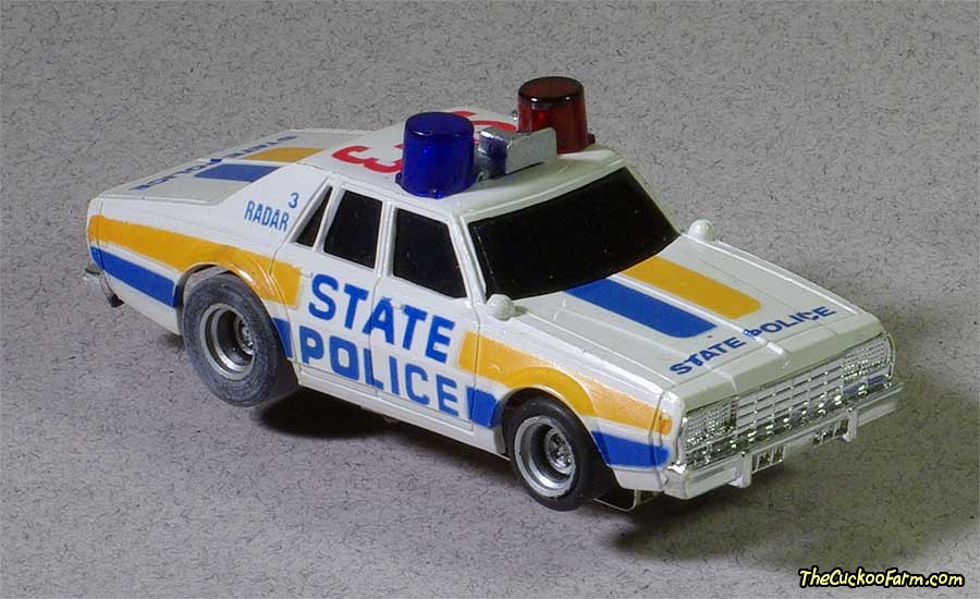 Chevy Police car slot car.
