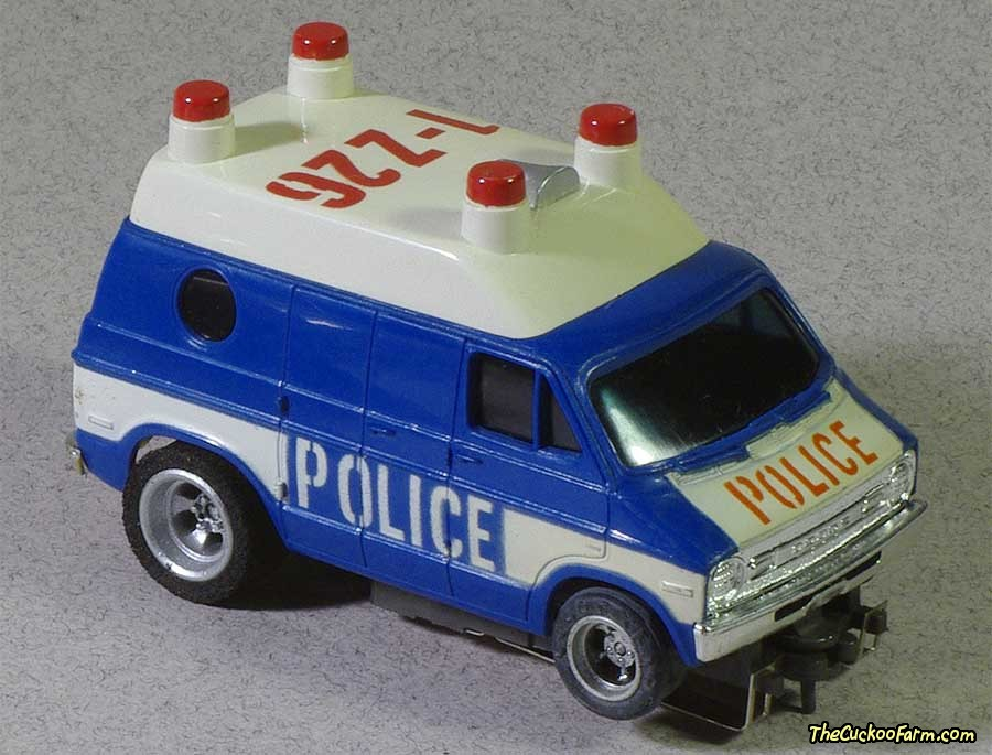 Dodge Police Van slot car.