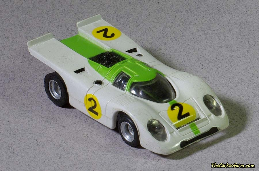 Porsche racer slot car.
