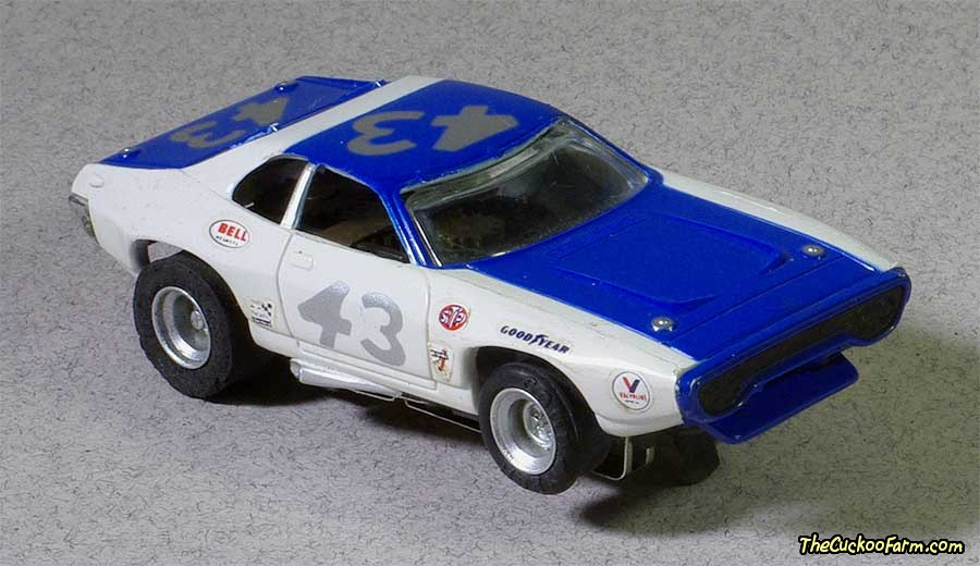 Plymouth RoadRunner slot car.