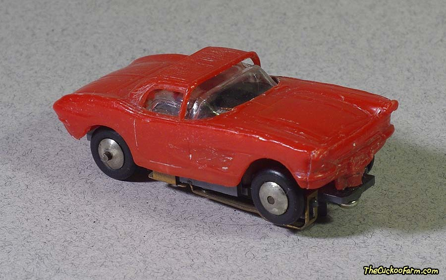 1962 Chevy Corvette slot car.